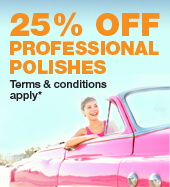 25% OFF PROFESSIONAL POLISHES