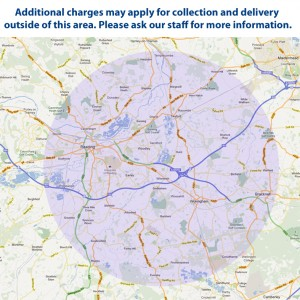 Collection and Delivery Area for BGS car repairs Winnersh, Reading