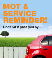 MOT and service reminder service from BGS car repairs Winnersh, Reading